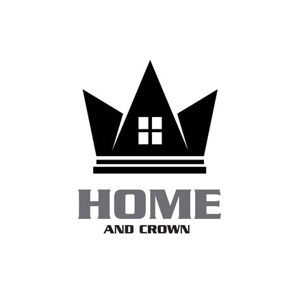 King Queen Crown House Real Estate Building Apartment Premium Elegant Luxury logo design