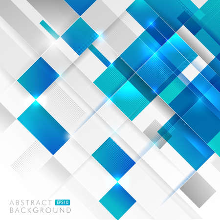 Abstract technology blue white and gray geometric shapes overlapping on white background. Modern futuristic concept. Vector illustration.