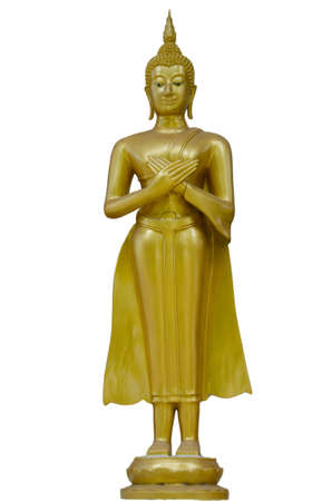 venerate: buddha stand isolate in asia
