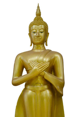 buddha stand hand isolate Stock Photo - 14422889