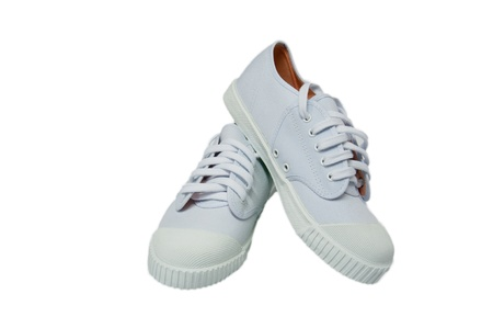 white new sneakers photo