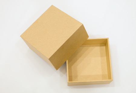 brown box: Brown box isolated white background
