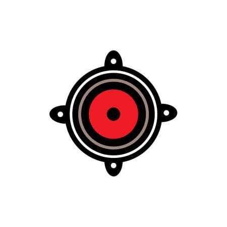 speaker logo design vector icon templat