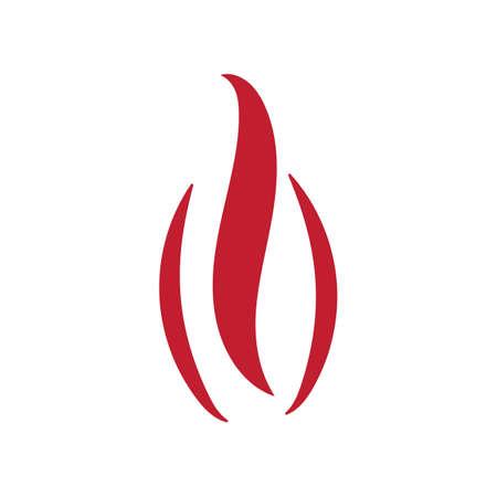 Fire logo design ilustration vector templat 向量圖像