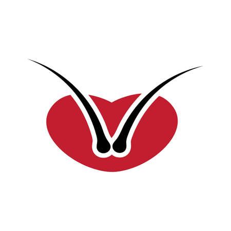 Hair threatmen logo design ilustration vector templat