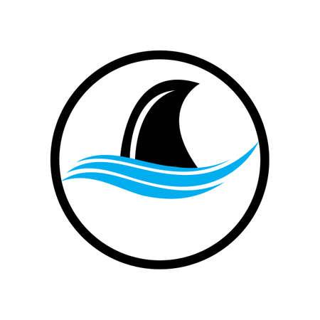 Shark Logo Template Vector design illustration Vettoriali