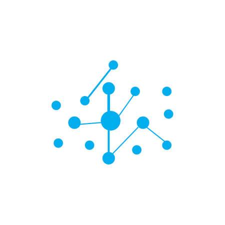Molecule logo design  illustration template Illustration