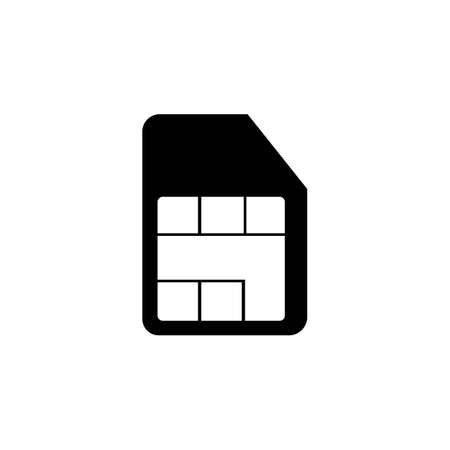 Phone Sim card  icon design ilustration vector templat