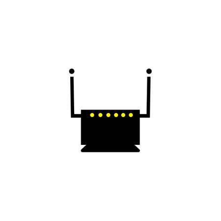 home wifi vector design ilustration icon logo templat Ilustracja