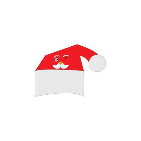 Santa claus hat vector design illustration Illusztráció
