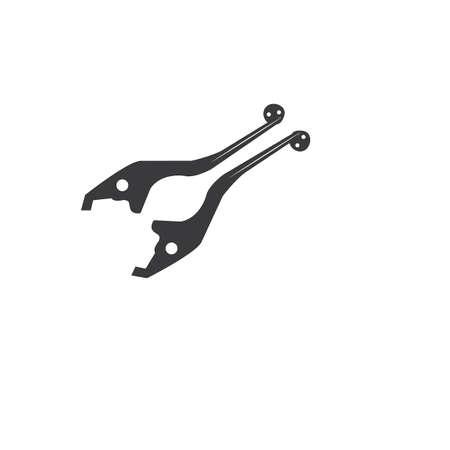 brake handle motor cycle vector design ilustration icon logo Illustration