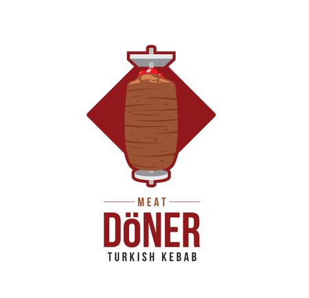 Turkish Kebab Meat doner logo