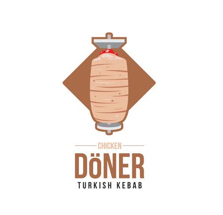 Turkish Kebab Chicken doner logo