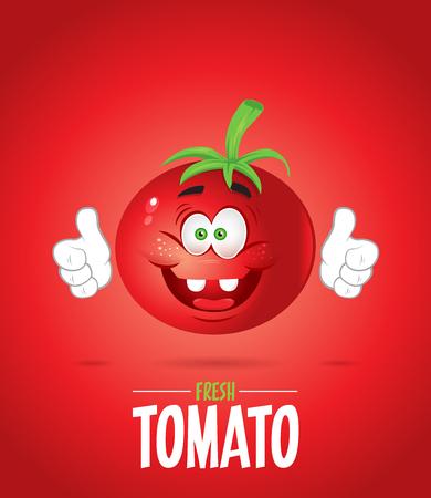 Tomato mascot character illustration