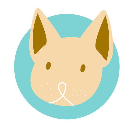 desing: The cute dog desing on background Illustration