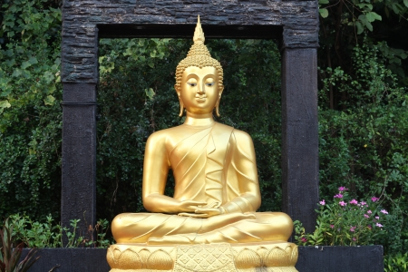 Meditation Buddha statue photo