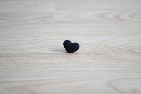 black heart on ground photo