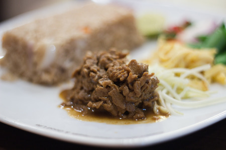 mingle: Food thai fried rice with shrimp paste Stock Photo
