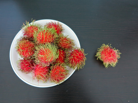 agricultural essence: Fresh rambutans is fruit for healthy