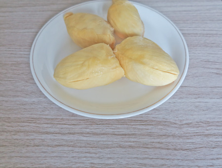 successively: Durian is king of tropical fruit from Asia  on  background