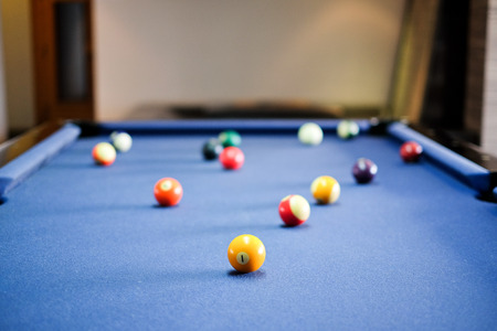 snooker table: Snooker ball on snooker table,  game on  table, International sport