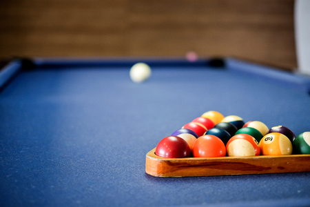 snooker: Snooker ball on snooker table,  game on  table, International sport