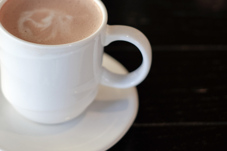 racy: chocolate, cocoa, coffee is beverage for work hard in the morning