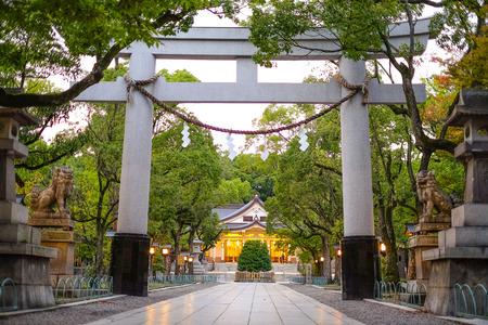 Pillar entrance at shrine , Minatogawa Shrine in Kobe, Japan