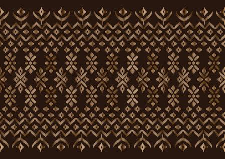 seta thailandese: panno di seta marrone modello, vettore