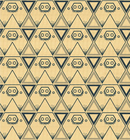 stalking: Pig background pattern triangle yellow,vector illustation