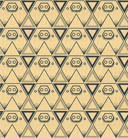 stalking: Pig background pattern triangle yellow,vector illustation