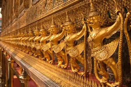 The Garuda are statue of temple in thailand