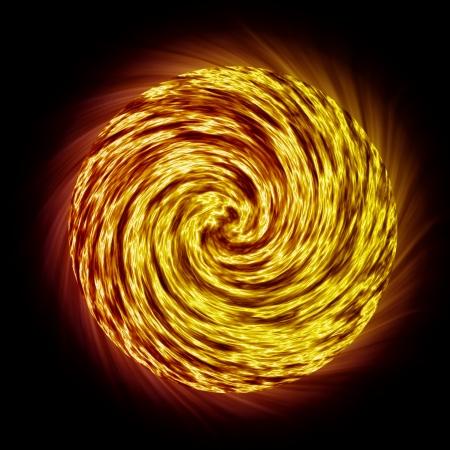 ball like: The burning fire ball like wheel.