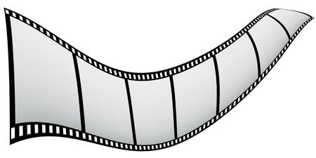 border 7 piece of film strip like flag. Stock Photo