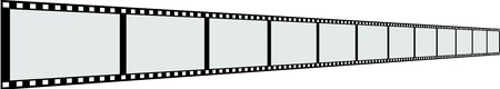 Line of film strip  photo
