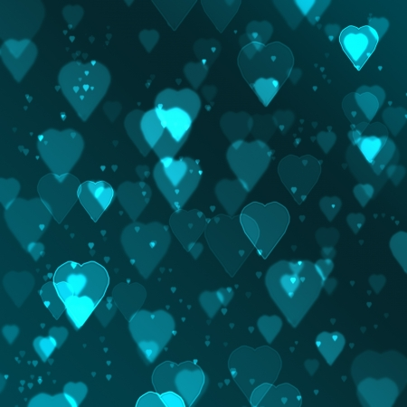 blue heart bokeh background made from digital graphic  photo