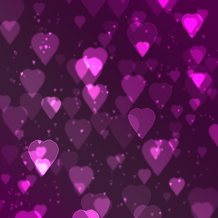 pink heart bokeh background made from digital graphic  photo
