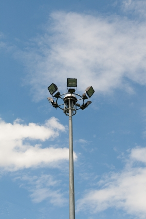 Round sport light in stadium  photo