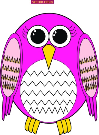Cute female owl design Vector