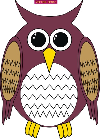 Cute male owl design Vector