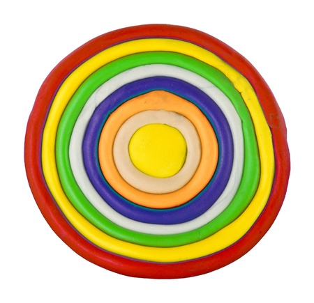 Colorful circle made from clay Stock Photo - 17087258