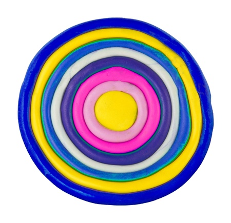 Colorful circle made from clay Stock Photo - 17087261