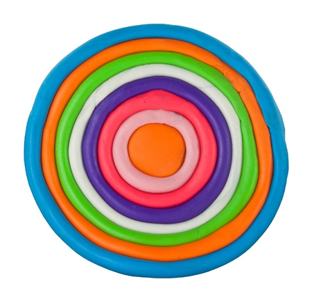 Colorful circle made from clay Stock Photo - 17087255