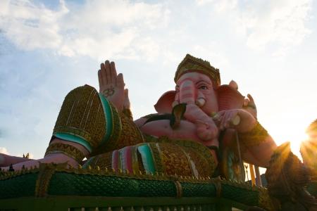 Ganesh statue in sunset day Stock Photo - 17087278