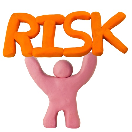 Man elevate risk in concept risk management Stock Photo - 17087283