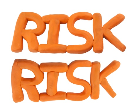Risk wording made from clay Stock Photo - 17187903