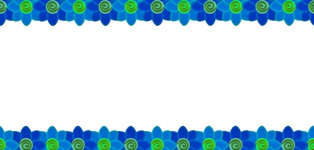 Blue flower row made from clay Stock Photo - 17921685