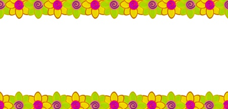 Yellow flower row made from clay Stock Photo - 17921694