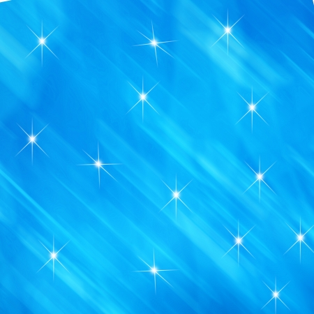 Abstract blue light background with star photo