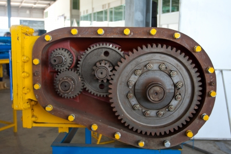 Cog or gear of engine on stand photo